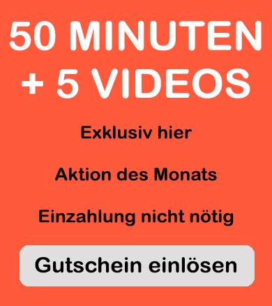 gutschein für 50 minuten und 5 videos